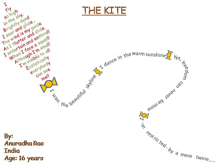 Kite shape poem
