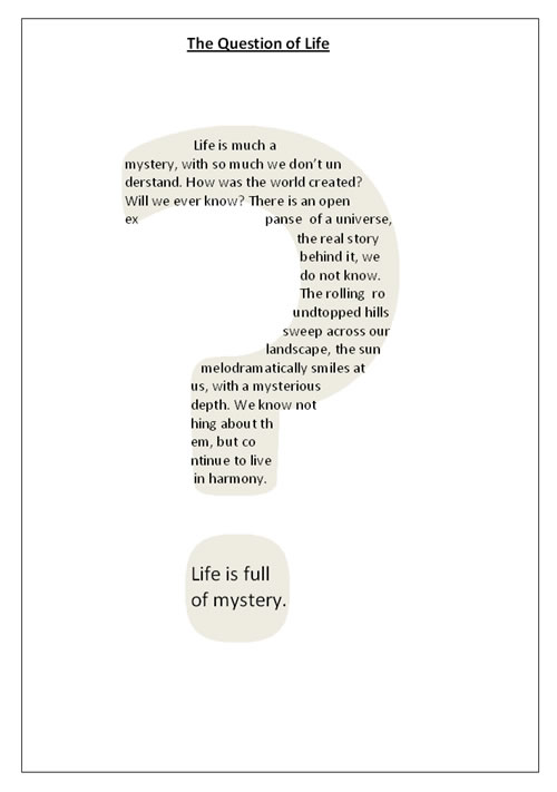 funny poems about life. The Question of Life