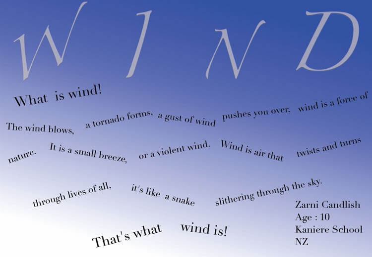 A visual poem about wind