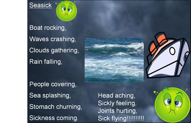 Seasick, a picture poem